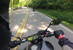 MotoADVR Yamaha FZ-07 back roads