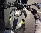 MotoADVR Yamaha FZ-07 cockpit