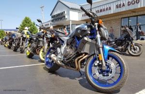 MotoADVR Yamaha FZ-07 in line
