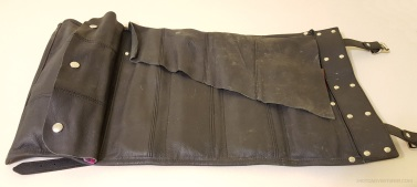 Leather Motorcycle Tool Roll Open MotoADVR