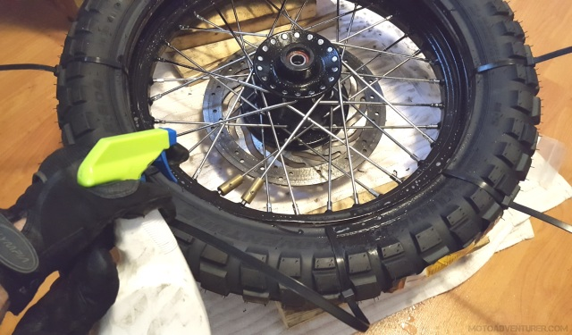 Lube New Tire Bead Before Mounting MotoADVR