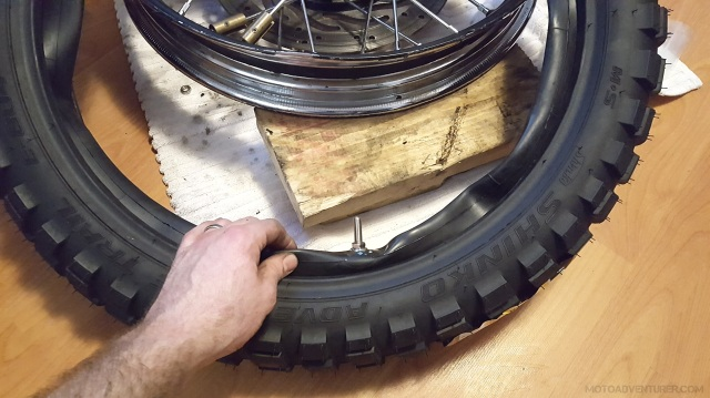 Stuff Tube into Motorcycle Tire MotoADVR