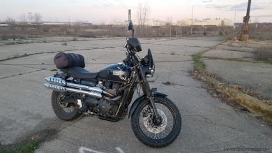 Triumph Scrambler Empty Lot MotoADVR