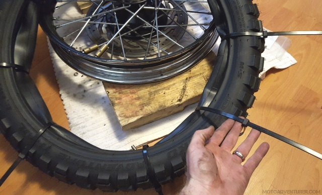 ZipTie Tire Shut MotoADVR