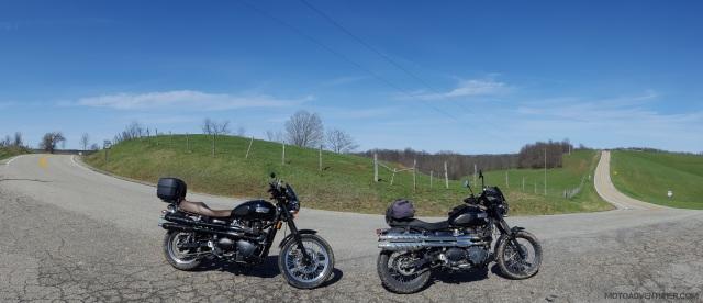 Triumph Scrambler Ohio Route 555 MotoADVR