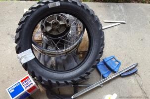 Karoo 3 New Tire Triumph Scrambler MotoADVR