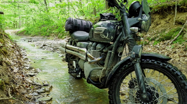Spaas Creek Road Triumph Scrambler MotoADVR