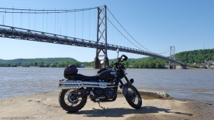 Triumph Scrambler Simon Kenton Bridge Maysville KY MotoADVR