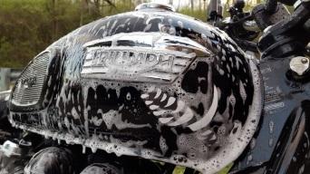 Triumph Tank Soap Suds MotoADVR