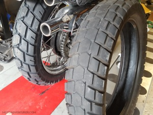 Bridgestone Trail Wing vs Shinko 705 MotoADVR