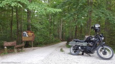 Chimney Top Rock Trail Triumph Scrambler MotoADVR