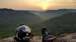 Cliff Edge Sunset MotoADVR