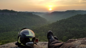 Cliff Edge Sunset MotoADVR