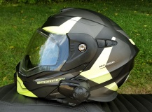 Scorpion Exo-AT950 Helmet Left NoVisor MotoADVR