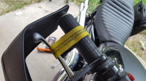 Brake Strap Installed MotoADVR