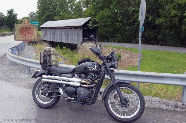 Covered Bridge Kentucky Triumph Scrambler MotoADVR