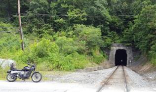 Triumph Scrambler Train Tunnel MotoADVR