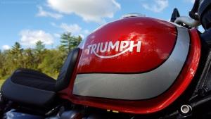 Triumph Street Scrambler Red Silver Tank MotoADVR