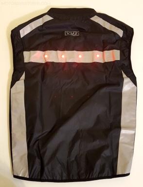 VUZ Vest Back LED On MotoADVR