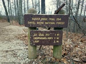 Auxier Ridge Trail Sign MotoADVR