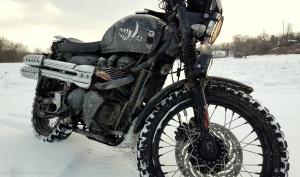 December 31s Triumph Scrambler Snow MotoADVR