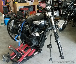 Triumph Bonneville T100 Black on Jack MotoADVR