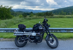 Triumph Scrambler Appalachian Mountains Virginia MotoADVR