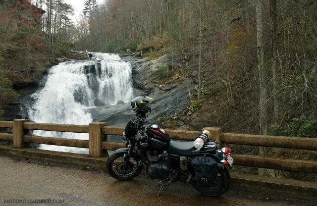 Bald River Falls Triumph Scrambler MotoADVR