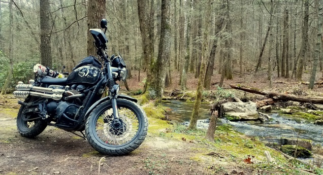 Triumph Scrambler Forest MotoADVR