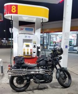 Triumph Scrambler Gas Station MotoADVR