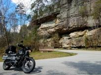 Cumberland Falls Entrance Triumph Scrambler MotoADVR