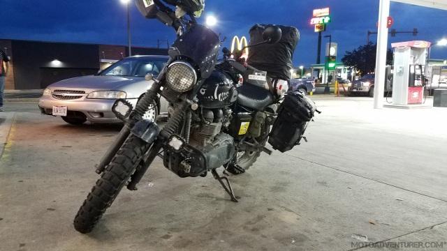 Chillicothe Gas station Triumph Scrambler MotoADVR