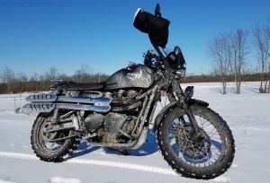 Rosie The Scrambler Snow MotoADVR