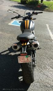 Ducati Scrambler 1100 Sport Rear Andy Parker