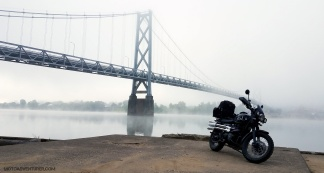 Triumph Scrambler Simon Kenton Bridge MotoADVR