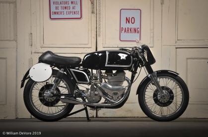 Bike #77 Don Blitz/Richard Klatt- 1956 Matchless G45 race bike