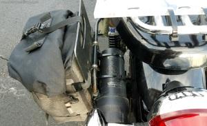 Pannier Rack Tool Tube Triumph Scrambler MotoADVR