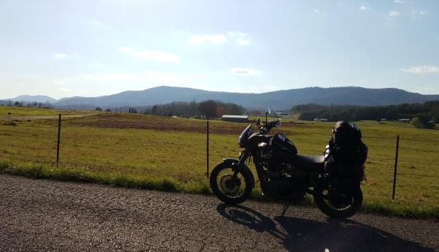 Appalachian Mountains Triumph Scrambler MotoADVR