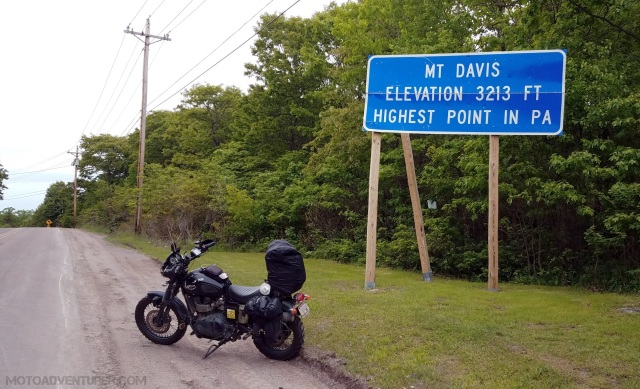 Mt Davis PA Highpoint MotoADVR