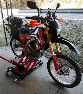 CRF250L Jackstand MotoADVR
