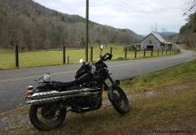 Steer Creek Road Tellico Plains Triumph Scrambler MotoADVR
