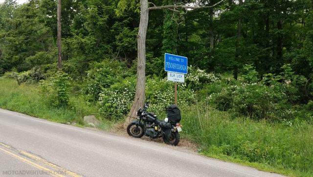 Pennsylvania Border Triumph Scrambler MotoADVR