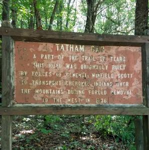 Tatham Gap NFS Sign